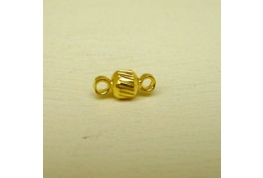 Gold Plate Link Bead