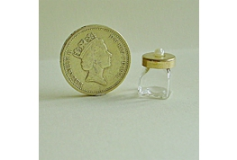 Square Glass Jar With Metal Lid