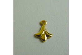Gold Plated Fleur De Lis With Ring
