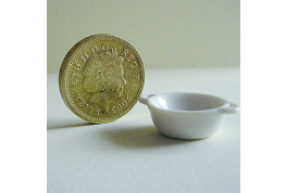 1:12 Scale White China Serving Dish