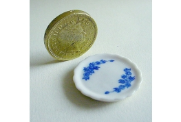 1:24 Blue And White Floral China Tray