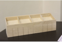 1:12 Scale White Or Bare Wood Sectioned Shop Display Counter