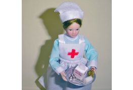 1:12 Scale Nurse Doll