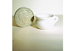 1:12 Scale White China Chamber Pot