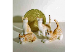 24th scale Family Of Ginger Tabby Cats