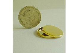 Gold Plated 20mm Round Tin