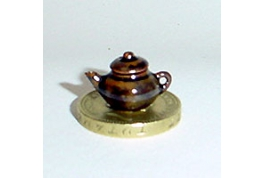 24th Scale Brown China Teapot