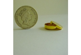 Gold Plated 13mm Round Tin
