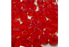 25  x Red Crystal Bicone Beads