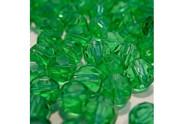 25 x Emerald Green Round Crystal Facets