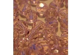 25 x Rose Pink Round Crystal Facets