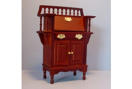 Mahogany Effect Writing Desk