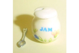 China Jam Pot Peace Pattern