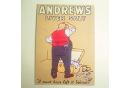 Card Advertising Sign Andrews Liver Salts