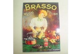 Dollhouse Card Advertising Sign Brasso Polish