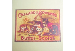 Card Advertising Sign Butter Scotch