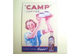 Card Advertising Sign Camp Coffee