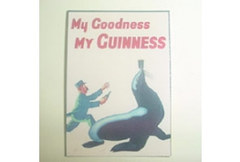 Dollhouse Miniature Card Advertising Sign Guinness