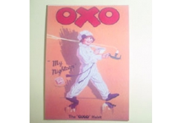 Card Advertising Sign Oxo