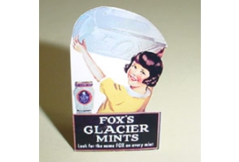 Fox's Glacier Mints Standing Card Advertising Sign