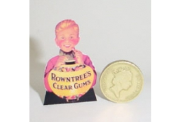 Rowntrees Clear Gums Standing Shop Sign