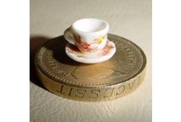 24th Scale Cup And Saucer Floral