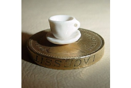 24th Scale White China Cup And Saucer