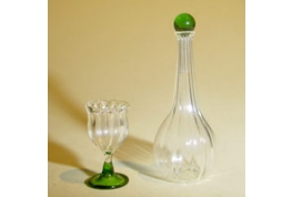 Dollhouse Miniature Decanter & Glass