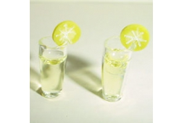 12th Scale Pair Of Cocktail Glasses