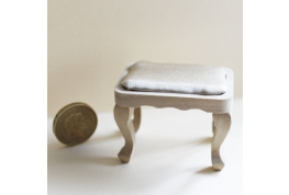 Bare Wood Padded Stool Effect