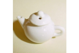 24th Scale  White China Tea Pot