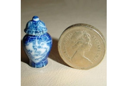 24th Scale Floor Standing Blue And White Urn.