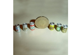Beer can tins set of 6