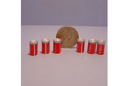Cola Cans set of 6