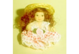 Doll With Straw Hat
